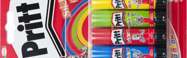 4 gekleurde prittstiften in blisterverpakking