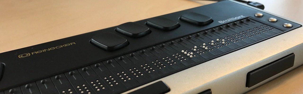 Brailleleesregel met Visio in braille