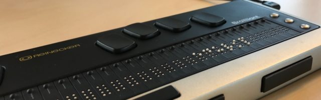 Brailleleesregel met eduVIP in braille