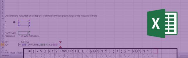 Excel braille spraak
