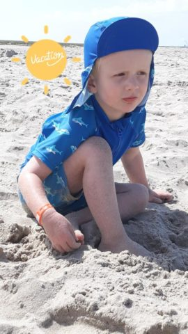 Jort op het strand