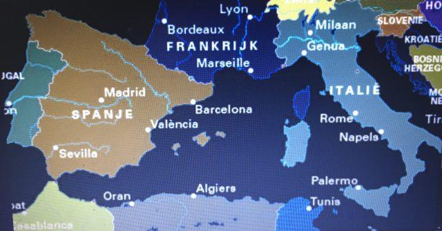 Kaart Middenlandsezeegebied kleuren omgekeerd