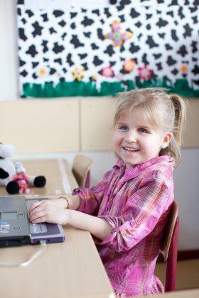 Leerling leert met de BrailleStudio