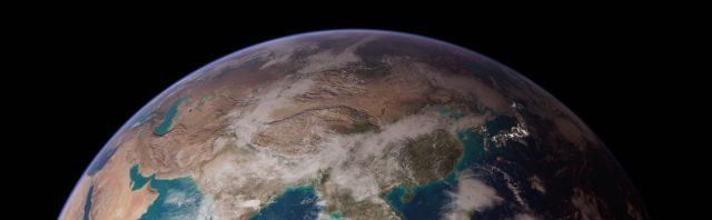 aarde vanuit de ruimte noordpool