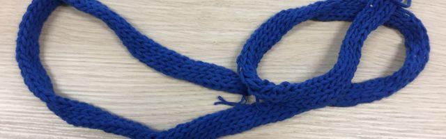 beeldende vorming vingerhaken blauw koord