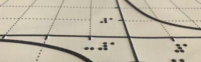 wiskunde grafiek in braille