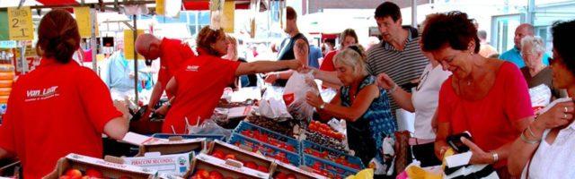 economie groentenkraam op de markt