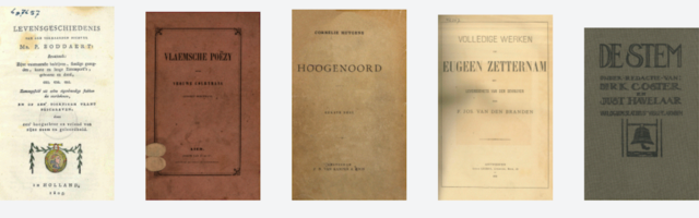 nederlandse literatuur 5 oude boeken op een rij