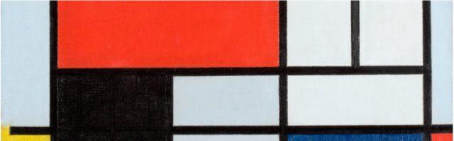 foto van een schilderij met vlakverdeling